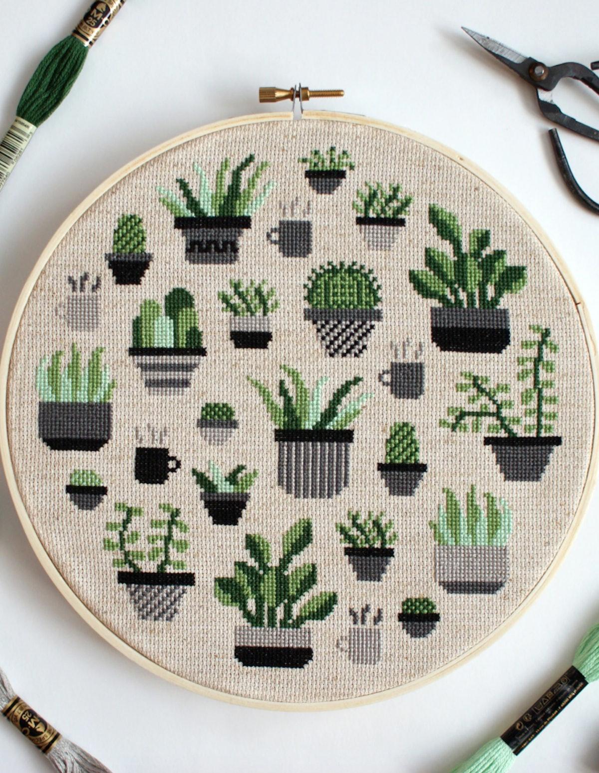 Botany Cross Stitch Kit