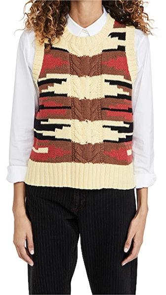 Saddle Sweater Vest
