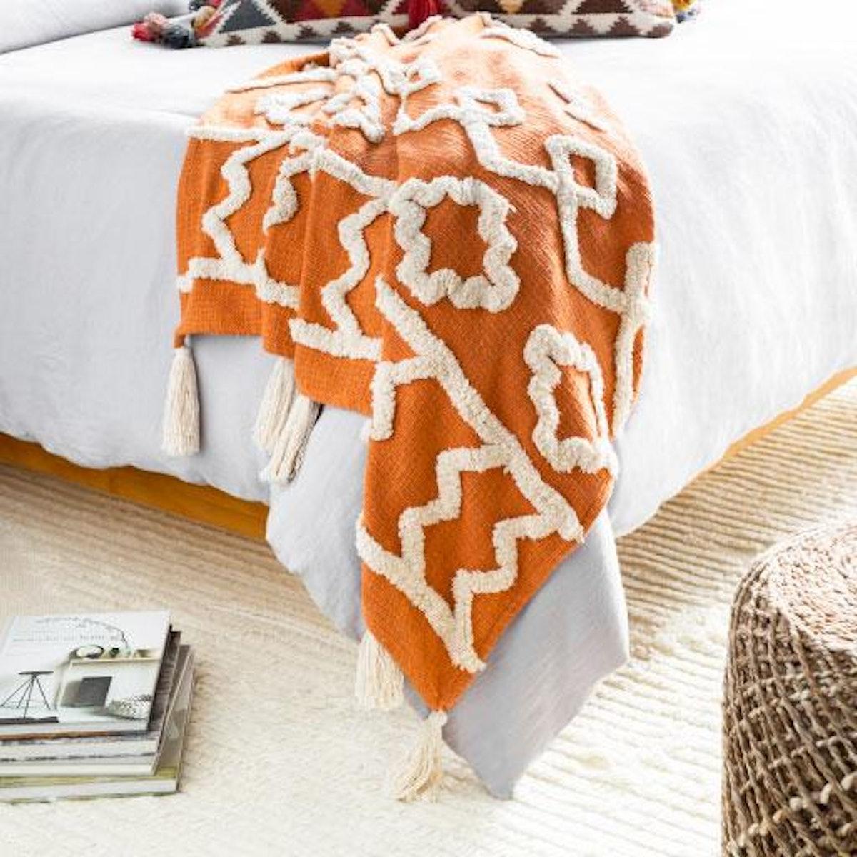 Tangerine Throw Blanket