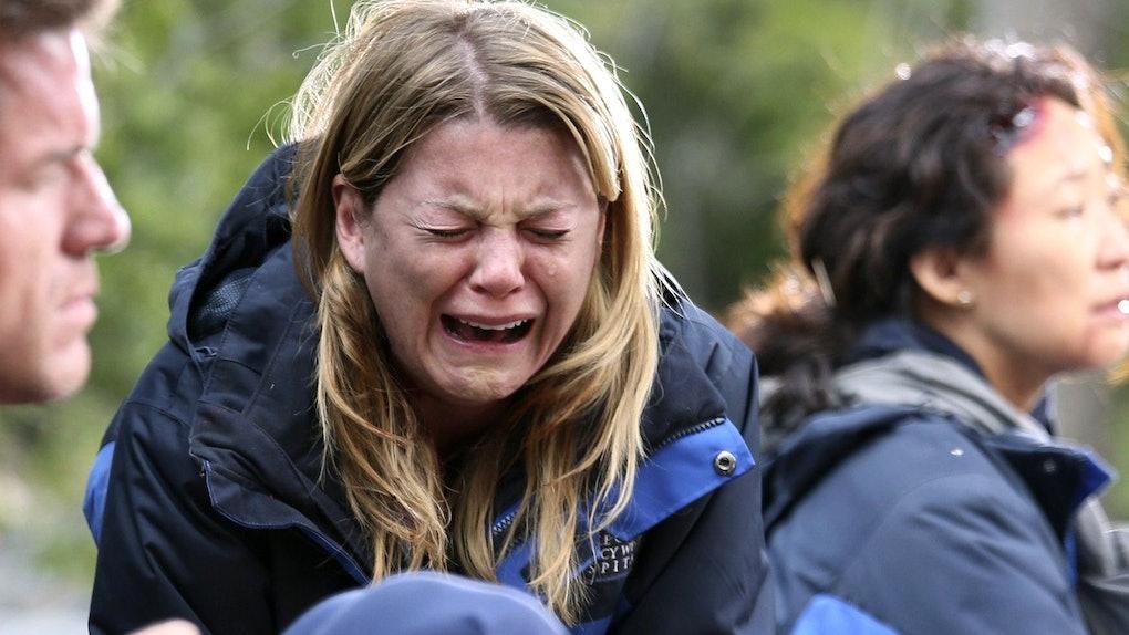 Ellen Pompeo as Meredith in Grey's Anatomy.