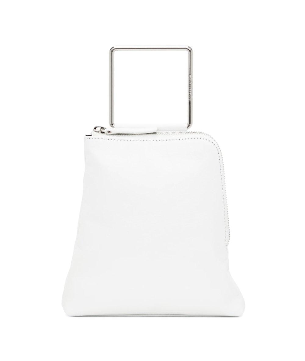 White Crinkled Breeze Handle Bag