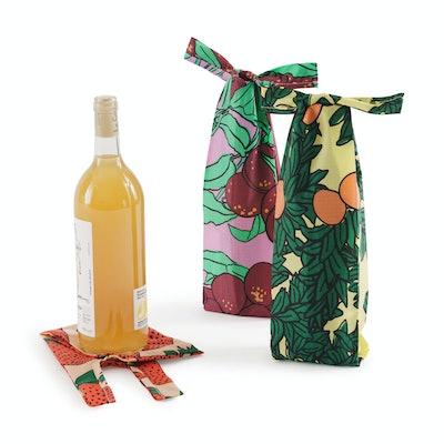 Baggu Recycled Nylon Wine Totes - Set of 3