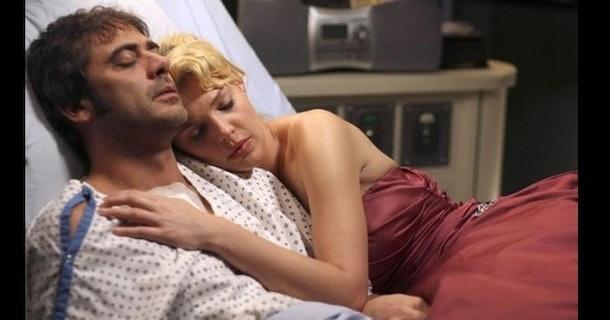 Denny and Izzy in Grey's Anatomy.