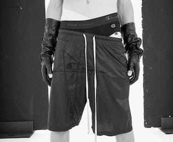 Rick Owens x Champion nylon shorts