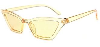 W&Y YING Skinny Cat Eye Sunglasses