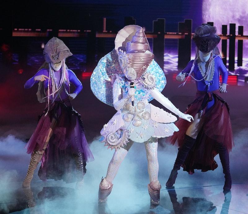 Seashell performing on 'The Masked Singer' via FOX press site.