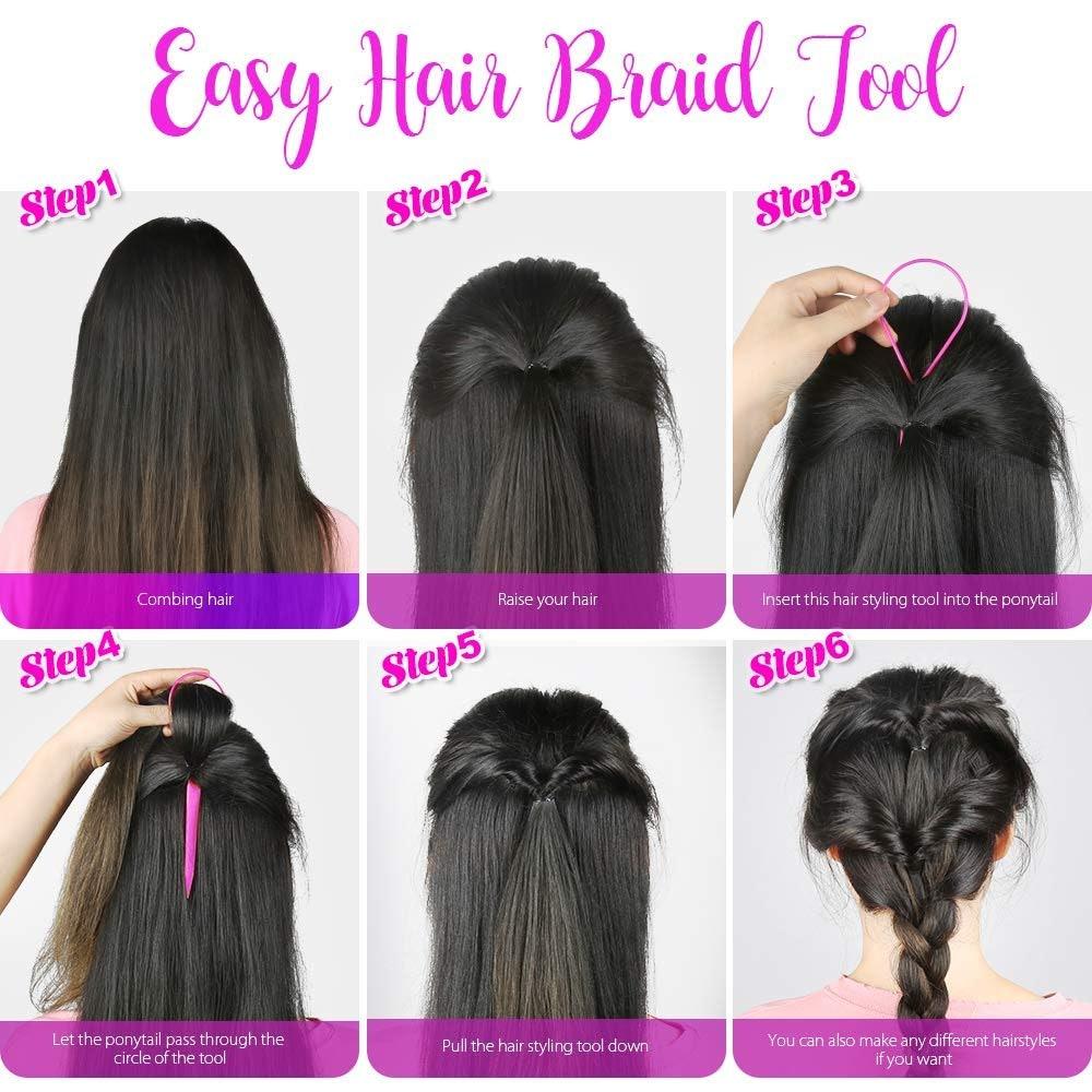 Teenitor Topsy Tail Hair Tools (4-Pack)