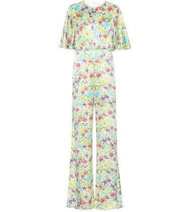 Floral Silk Jumpsuit