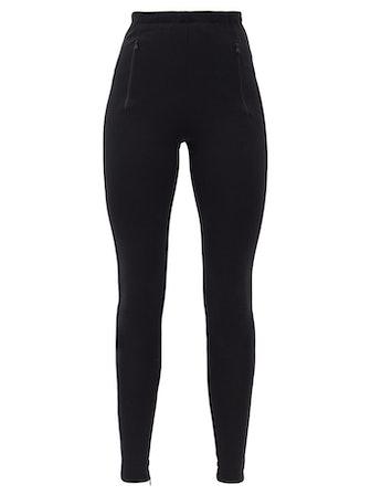 Release 03 high-rise slit-cuff leggings