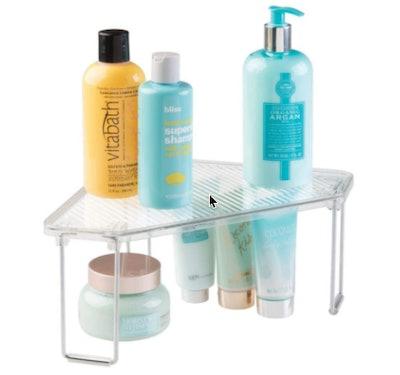mDesign Corner Freestanding Stackable Shelf (2-Pack)