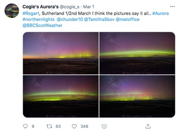 what are auroras made of