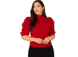Romwe Plus Size Puff Sleeve Top