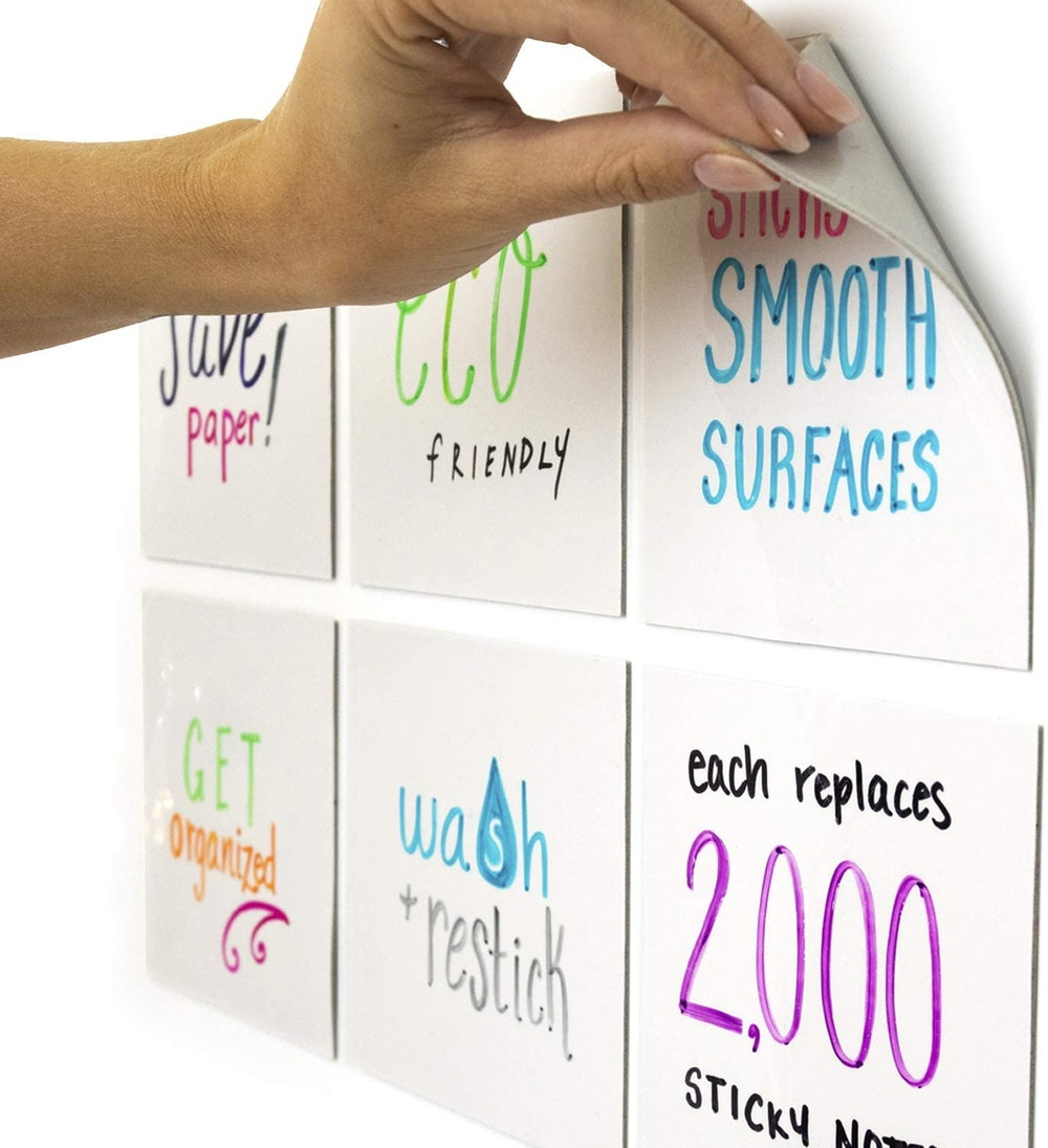 mcSquares Dry-Erase Sticky Notes (6-Pack)