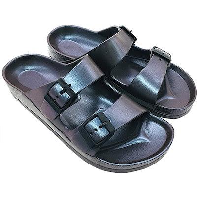 FUNKYMONKEY Double Buckle EVA Slide Sandals