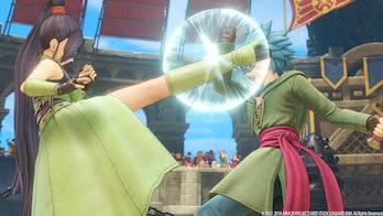 dragon quest xi jade kick combat rpg