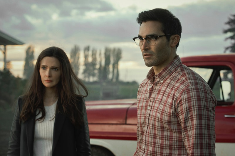 Clark Kent and Lois Lane on Superman and Lois via the CW press site
