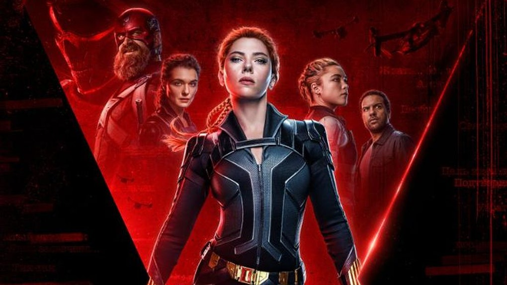 Poster for Black Widow, coming to Disney+