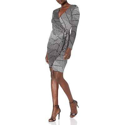 Lark & Ro Long Sleeve Matte Jersey Wrap Dress