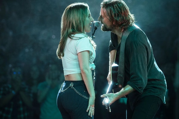 "Lady Gaga and Bradley Cooper perform ""Shallow."""