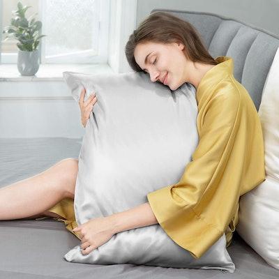 J JIMOO Natural Silk Pillowcase for Hair & Skin