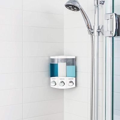 Better Living Products 3-Chamber Shampoo Dispenser