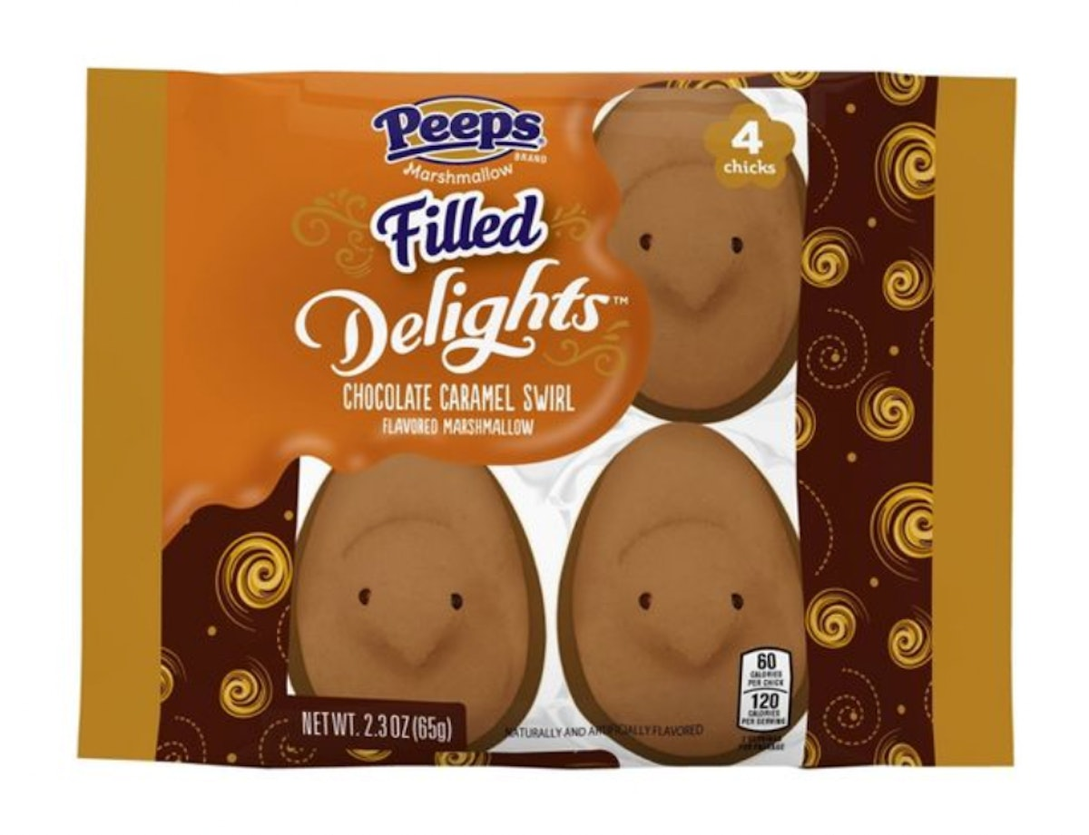 Peeps Easter Delight Chocolate Caramel Swirl Dipped Chick