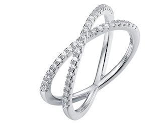 PAVOI Criss Cross Ring