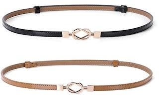 JASGOOD Skinny Belt (2-Pack)