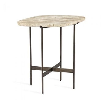 Arlington Side Table in Travertine