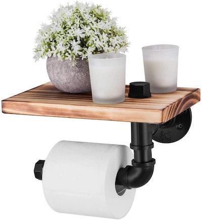 Elibbren Toilet Paper Holder With Shelf