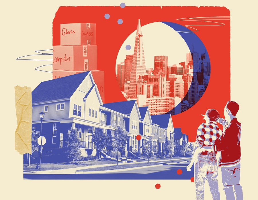 Couples who left their big cities during the pandemic reflect on their new lives in the suburbs and rural areas.
