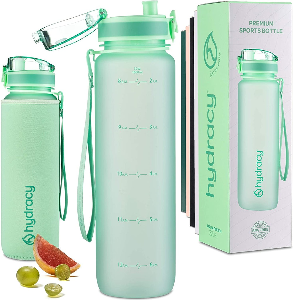 Hydracy Water Bottle with Time Marker