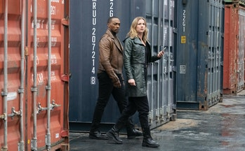 Anthony Mackie and Emily VanCamp in The Falcon and the Winter Soldier.
