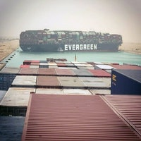 Ever Given: A giant container ship is jammed sideways in the Suez Canal