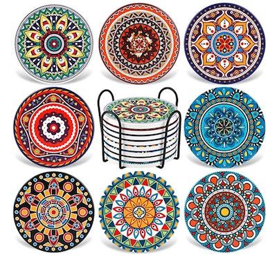 Set of 8 Ceramic Coasters