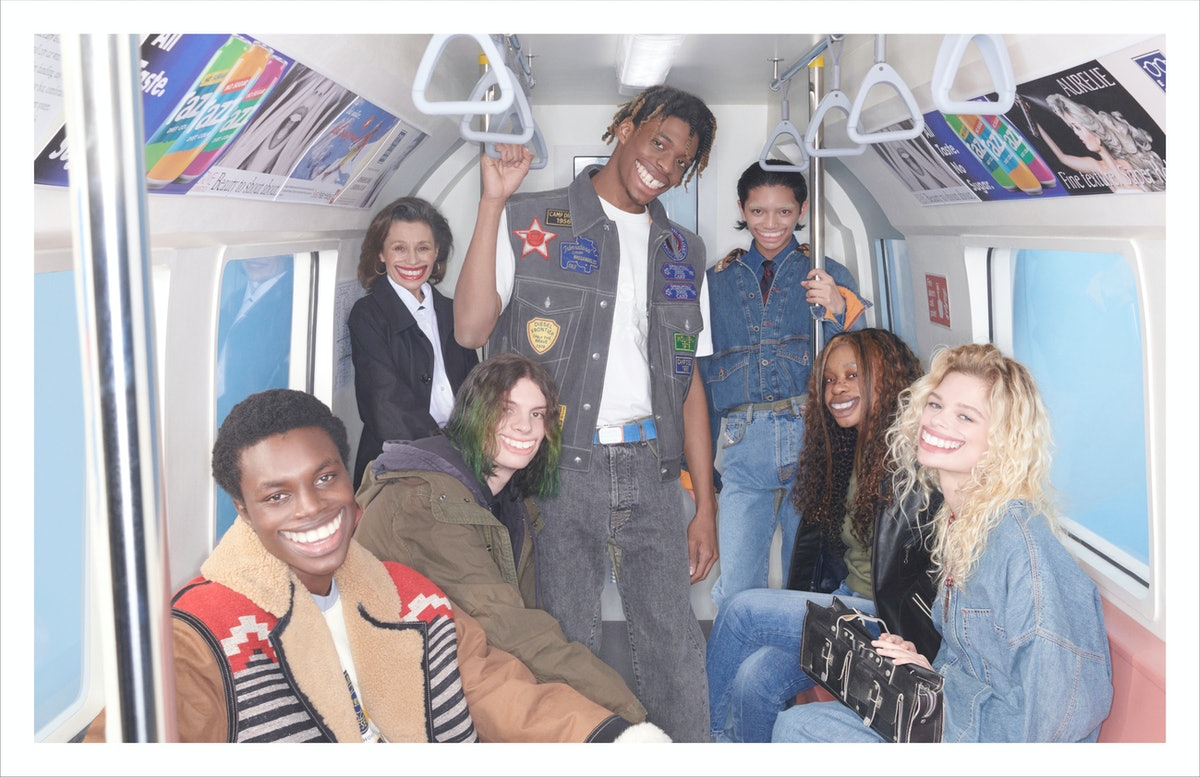 Models grinning in a Diesel campaign shot by Hugo Comte