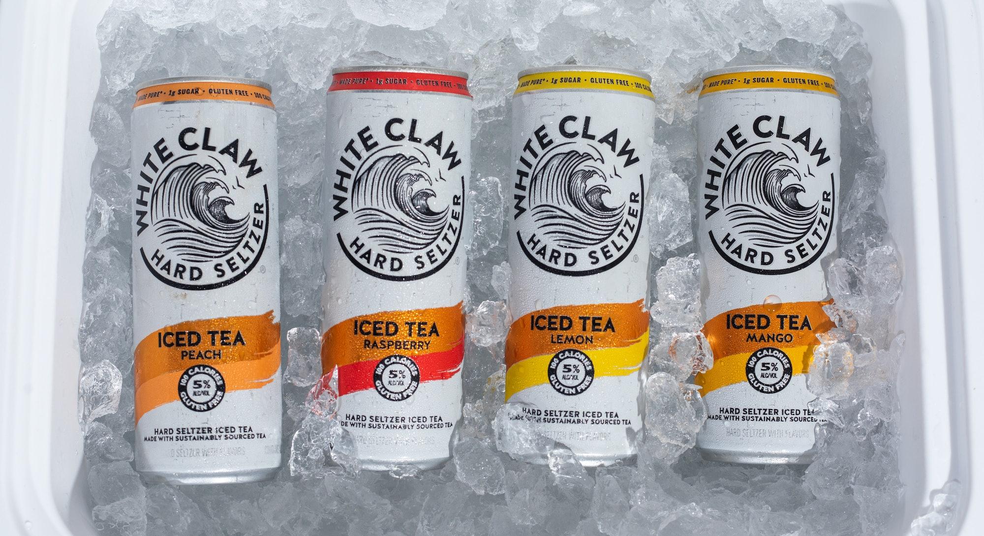 How do White Claw Iced Tea and Truly Iced Tea compare?