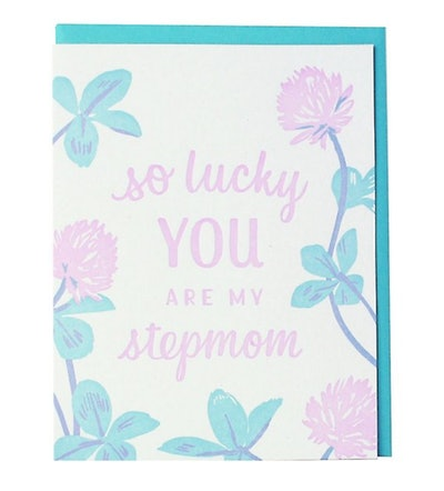 So Lucky Stepmom Mother's Day Card