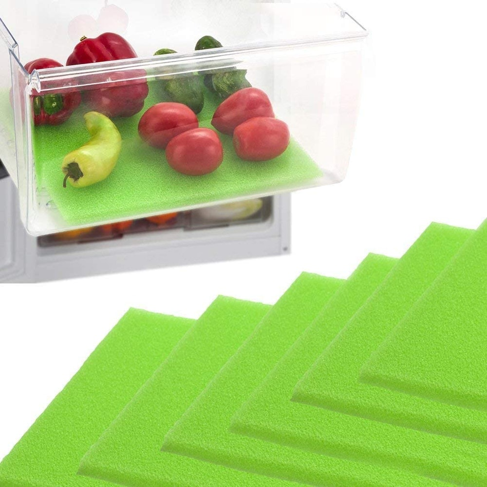 Dualplex Fruit & Veggie Life Extender Refrigerator Liners (6-Pack)