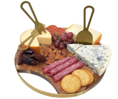 Choosy Chef Magnetic Charcuterie Board with Serving Utensils