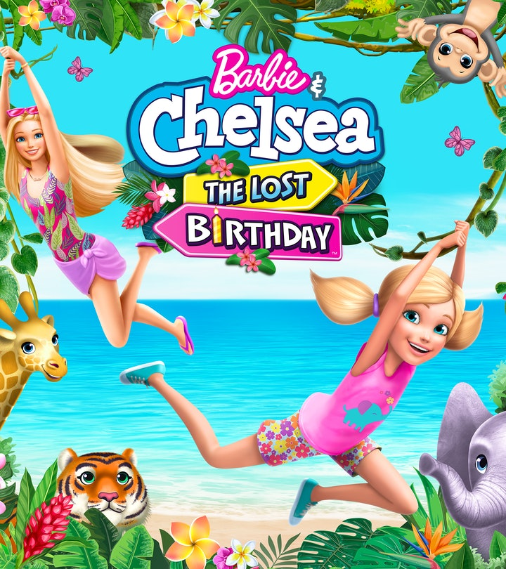 """Barbie and her youngest sister Chelsea soar through an enchanted jungle in Mattel's """"Barbie & Chelsea The Lost Birthday."""""""