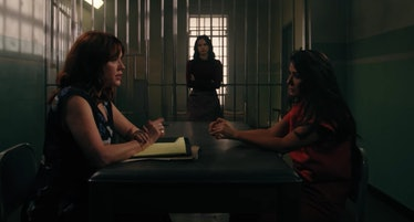 Molly Ringwald as Mary Andrews and Marisol Nichols as Hermione Lodge on 'Riverdale'