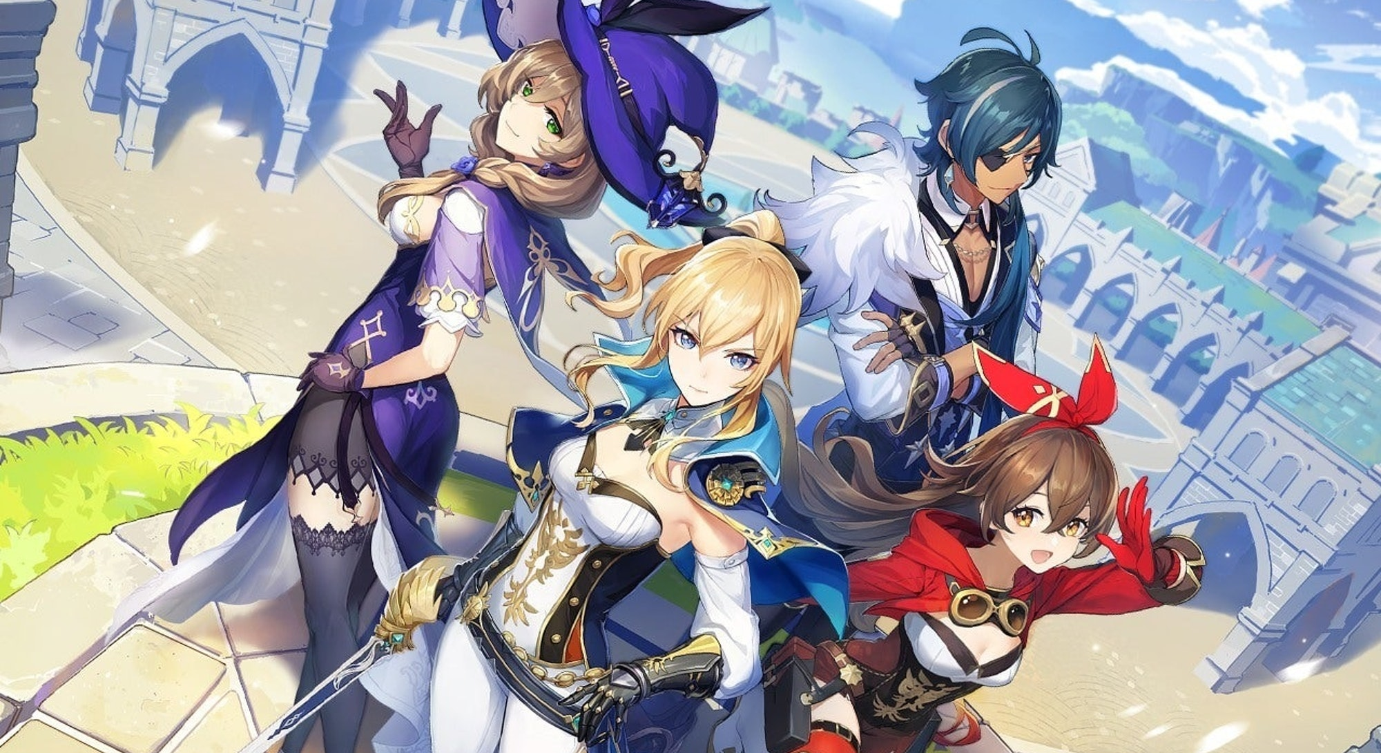 Genshin Impact, a popular mobile game. Video game. Mobile games. Online games.