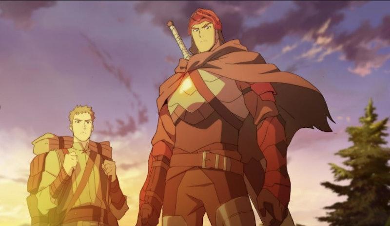 Dragon Knight Davion (voiced by Yuri Lowenthal) & Bram (voiced by Josh Keaton) in 'Dota: Dragon's Blood'