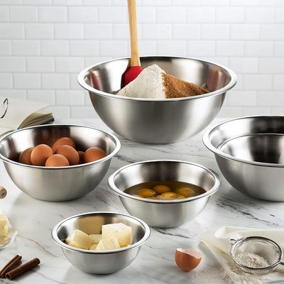 FineDine Stainless Steel Mixing Bowls (6-Pieces)