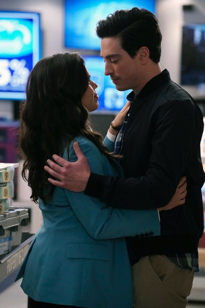 Amy and Jonah briefly broke up during her move to California on 'Superstore.' Photo via NBC