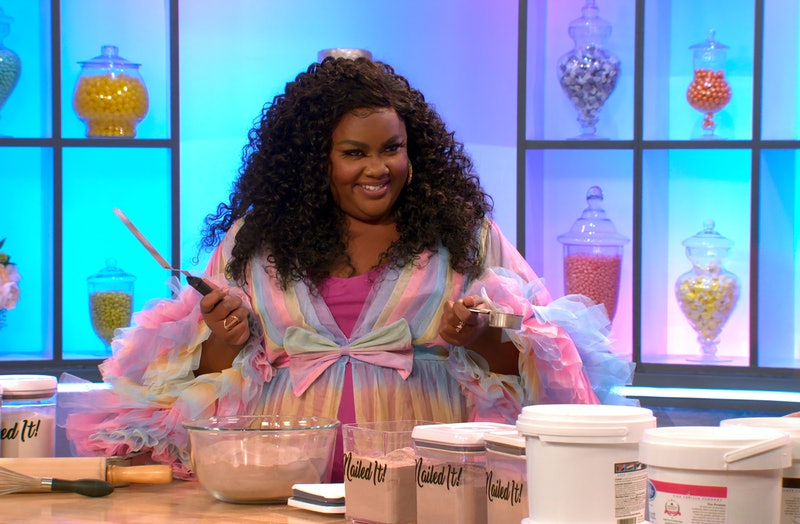 "Nicole Byer in the ""An Ungodly Mess"" episode of 'Nailed It!' Season 5 via Netflix's press site"