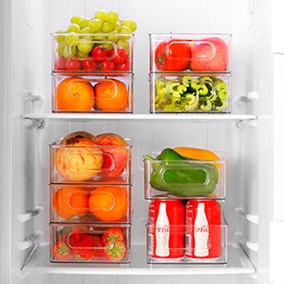 kapebow Stackable Refrigerator Organizer Bins (6-Pack)