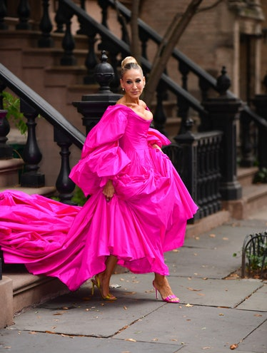 Sarah Jessica Parker seen on the streets of the West Village on September 26, 2019 in New York City....