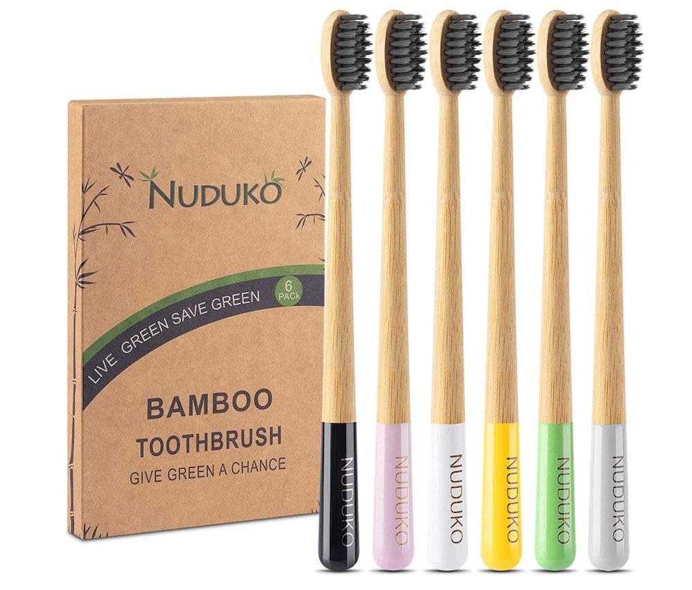 Nuduko Bamboo Toothbrush (6-Pack)